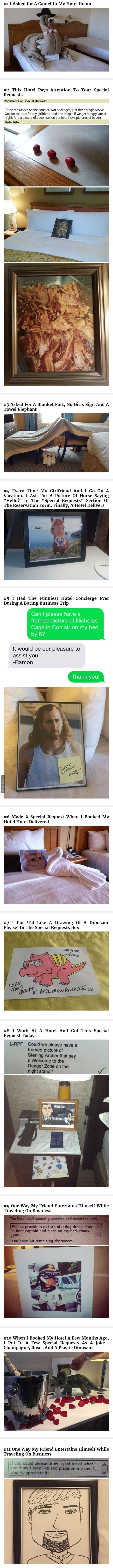 These Guys Trolled Hotel Staff With Ridiculous Room Requests, And The Hotels Delivered - The Best Funny Pictures