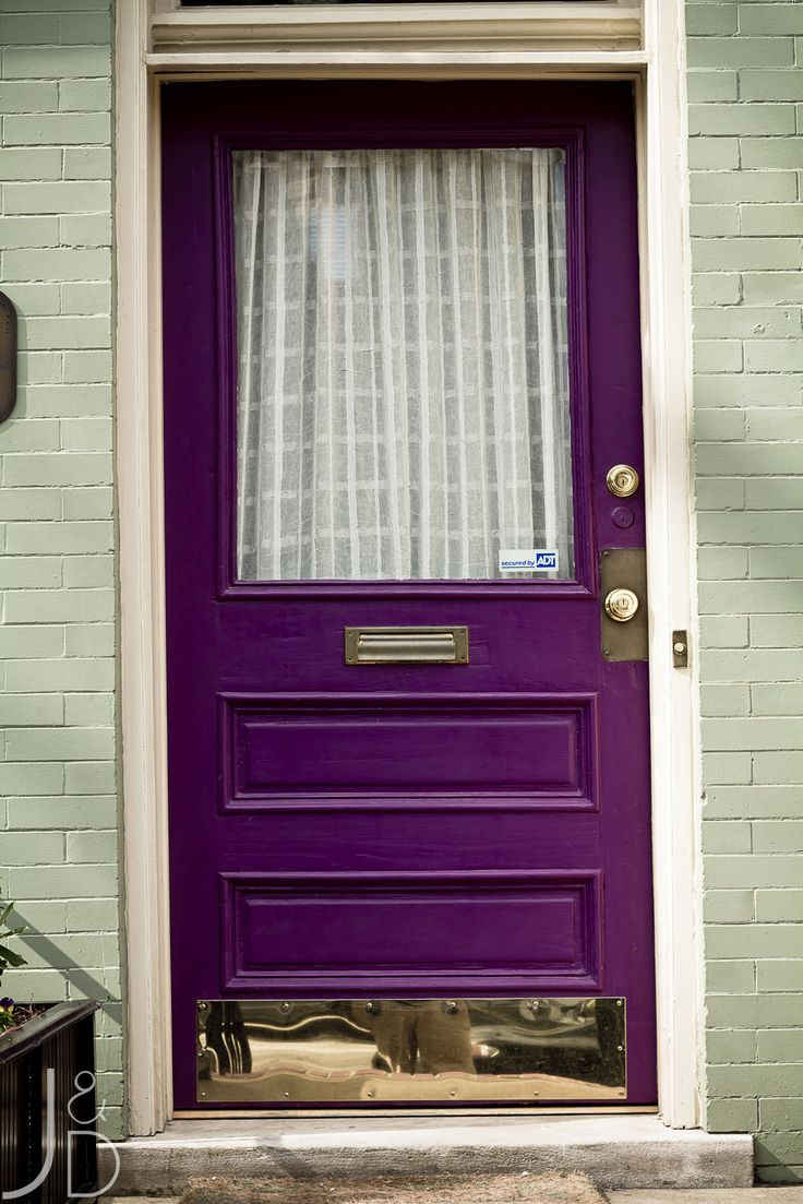 12 colorful front doors