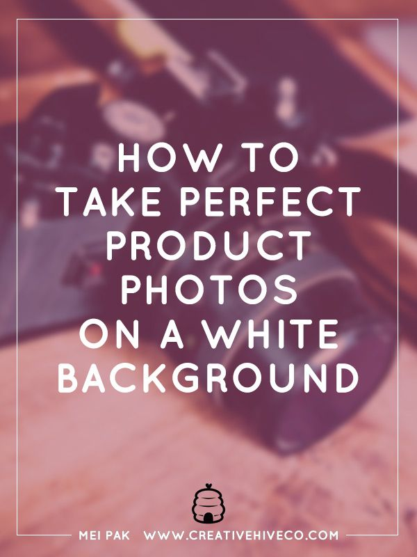 Have you ever wondered how other people get their product photos on a white background? Where the product seems to be floating off the page? Here's how!