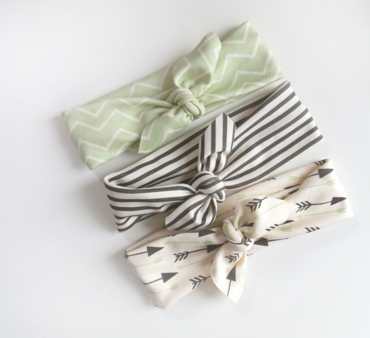 adorable headbands on Etsy- thinking I could make my own...