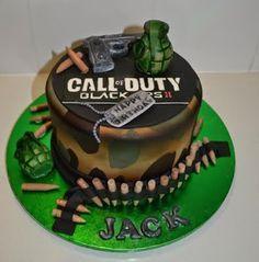 Birthday Cake Call Of Duty Black Ops 3 cakepins.com