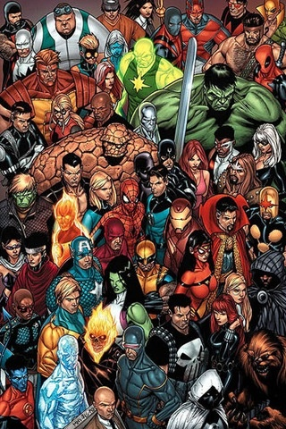 All the super heroes