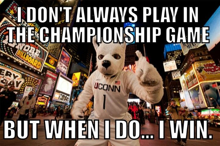 Go uconn!! sorry but it's true! Congrats to the Lady and Male Husky BasketBall Teams for winning the 2014 National Championship!
