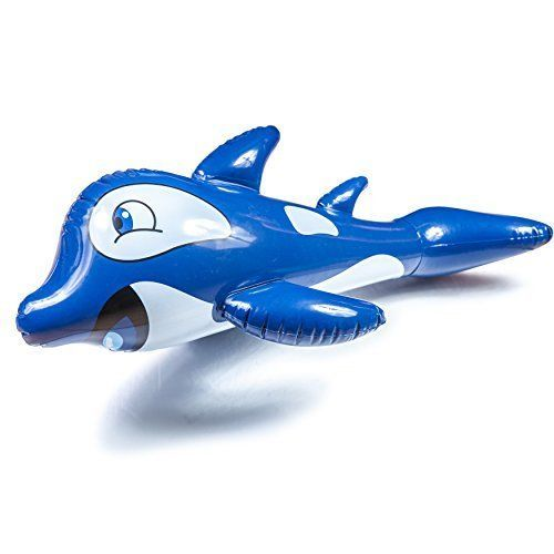 Summer Kids Water Inflatable Pool Toy Opie Orca Marine Animal Sport Outdoor Blue