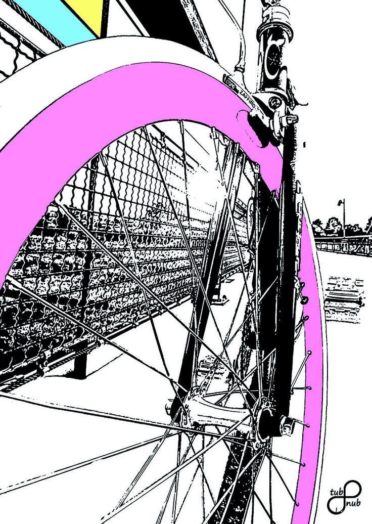 hipster fixed gear bike on tubnub-flyer/postcard
