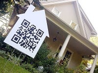 Interessante Idee für QR-Codes für Immobilien. QR Code per la vendita immobiliare  QR Code for real estate