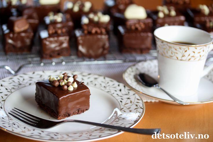 Sjokoladedyppede sjokoladebrownies