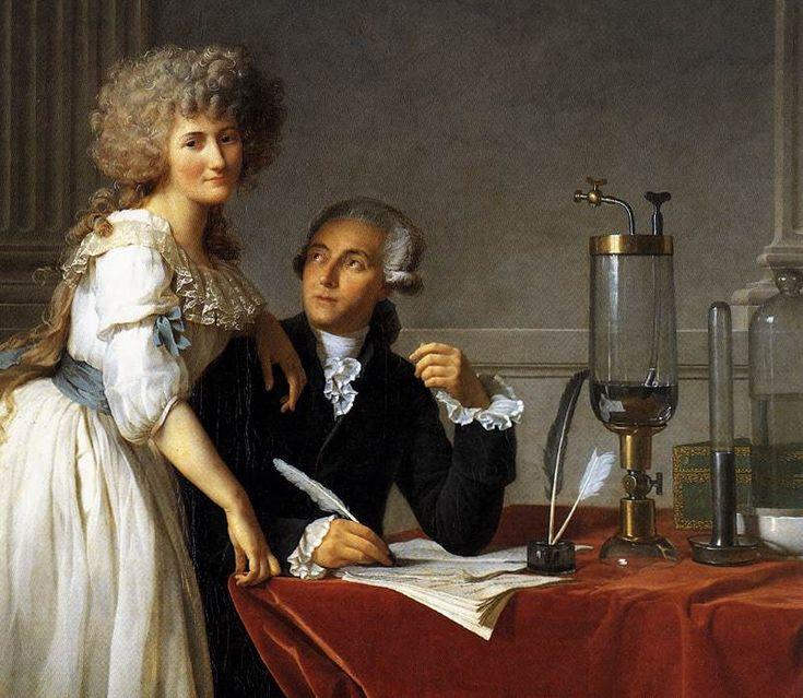 Jacques-Louis David - Portrait of Antoine-Laurent and Marie-Anne Lavoisier (detail) - WGA06060 - Antoine Lavoisier — Wikipédia