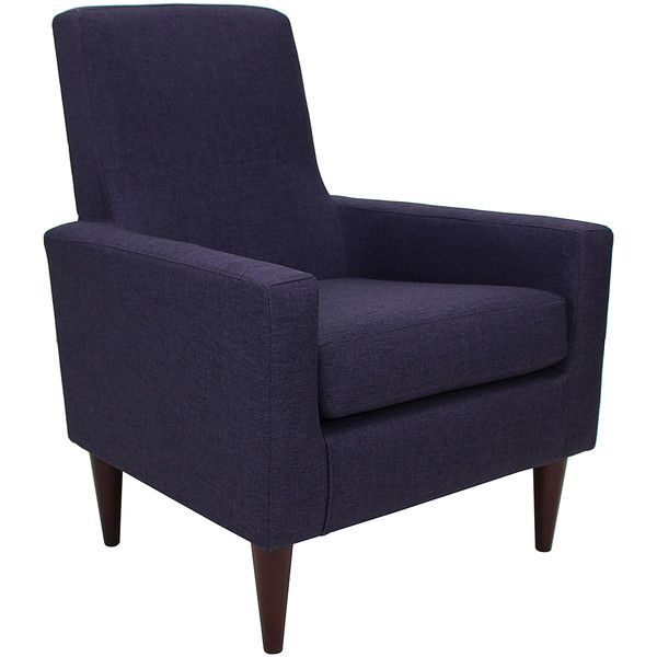 Foxhill Trading Company Eggplant Edward Arm Chair ($165) ❤ Liked On  Polyvore Featuring Home
