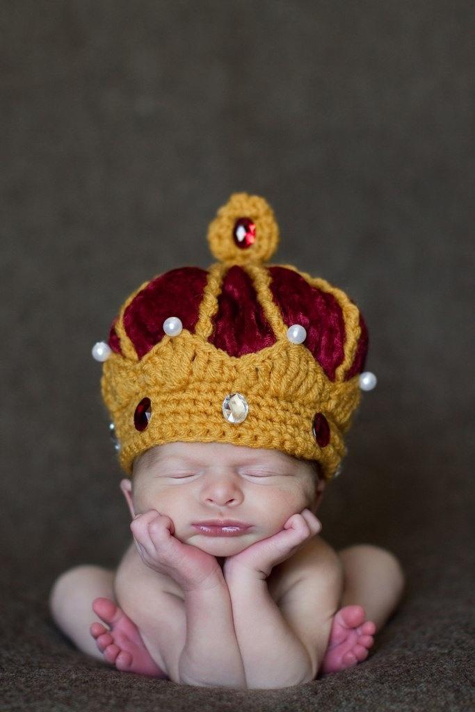 Crown Hat, Newborn King Crown Hat, Designer Custom Photo Props OOAK. $75.00, via Etsy.