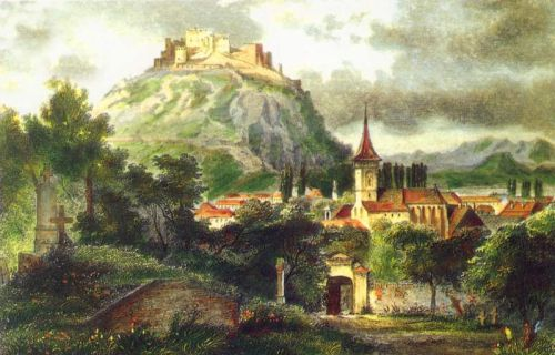 eastern europe landscape   old city deva 1800 romania landscape beautiful european landscapes ...