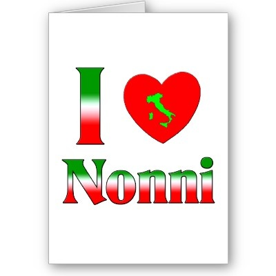 ~ Nonni in Italian is actually grandparents but some grandmothers or grandfathers also take on this name as well.
