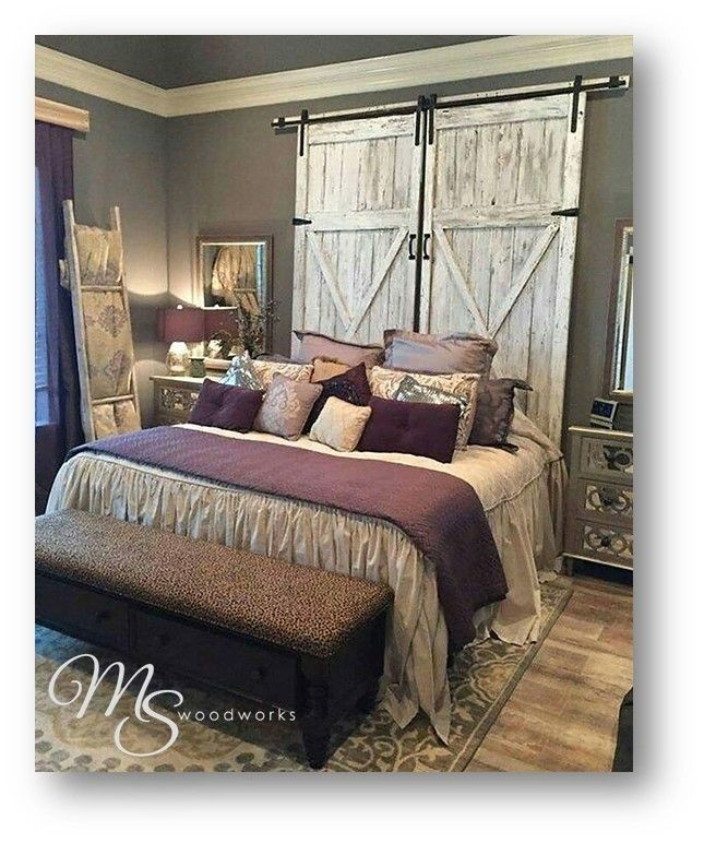 A #Barnwood Headboard is the perfect home decor for anyone looking to give their bedroom a bit of that rustic, organic feel a perfect quick and easy refresh for fall!