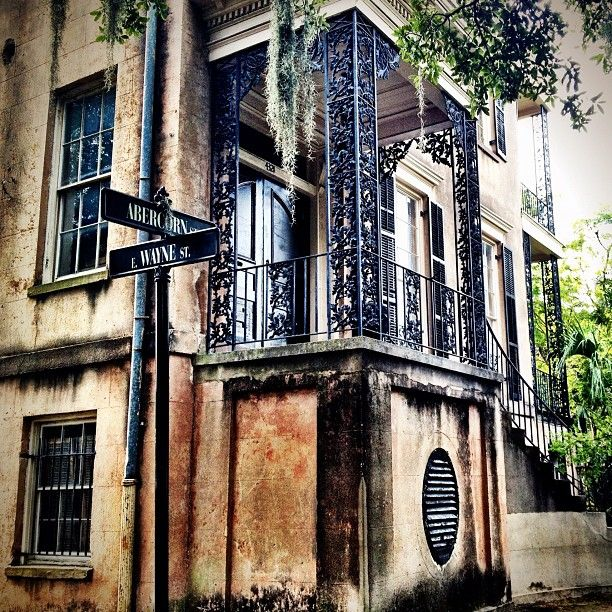432 Abercorn St. - one of the most haunted homes in Savannah!- seen on Ghost tour. Pretty nice house. TG