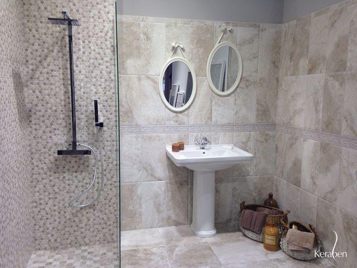 #Baño colección Termae, de #Keraben, en el que se unifican tradición y #tendencia desde #Coverings2015 #bath #bain http://keraben.es/soluciones-ceramicas/termae