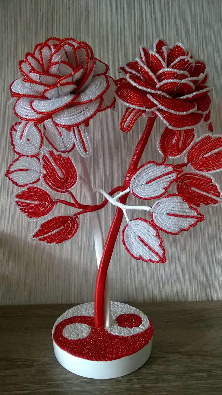 Red & White Flowers by OK