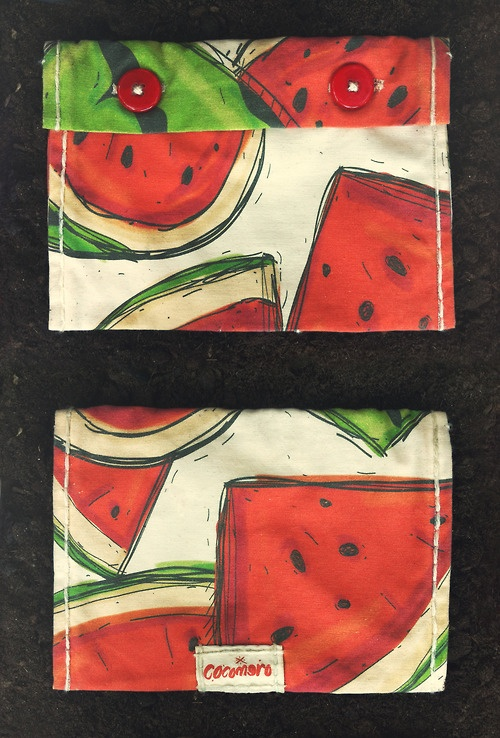 Watermelon Bag.  http://garzoniclothing.tumblr.com