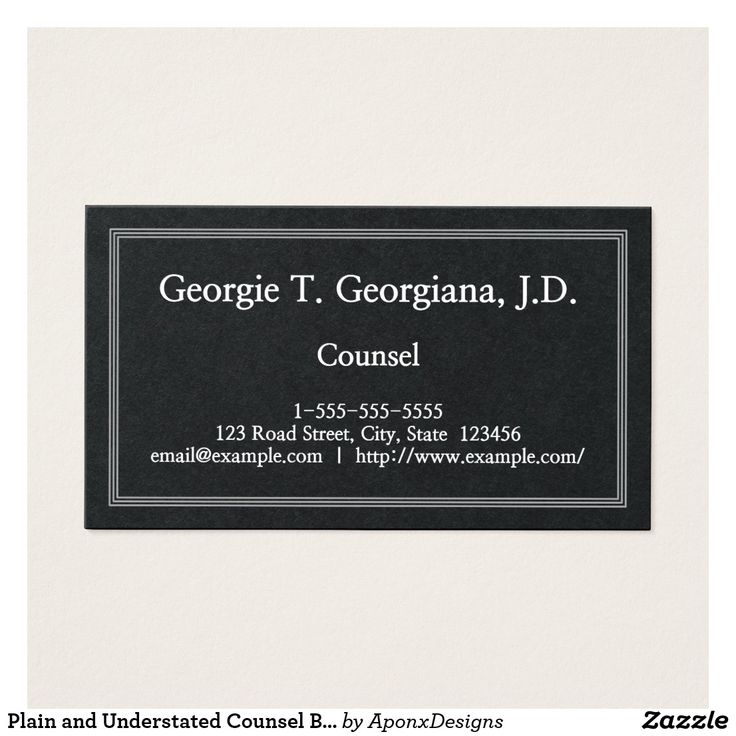 Plain and Understated Counsel Business Card