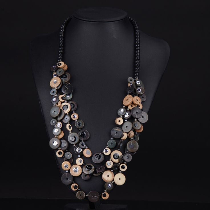 $7.44 wooden bead necklace