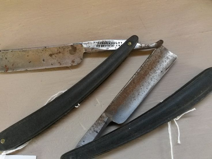 Cut throat straight blades