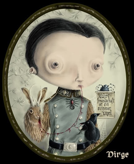 Roman Dirge #lowbrow #art pop surrealism