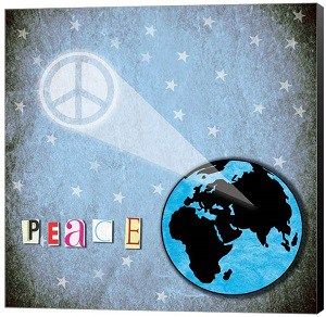 Peace On Earth Canvas Wall Art And Pray For World Peace This Christmas Greeting Card World Peace Day is celebrated on September 21st every year. People may attend peace events, pray for peace, toas… http://ShopNPrizes.com/peace-earth-art