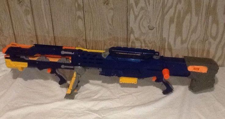 Nerf Gun Longshot CS-6 Gun 2006 N-Strike Dart Gun Blue Sniper Rifle  | eBay