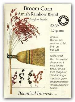 Amish Rainbow Blend broom corn ad. #brooms