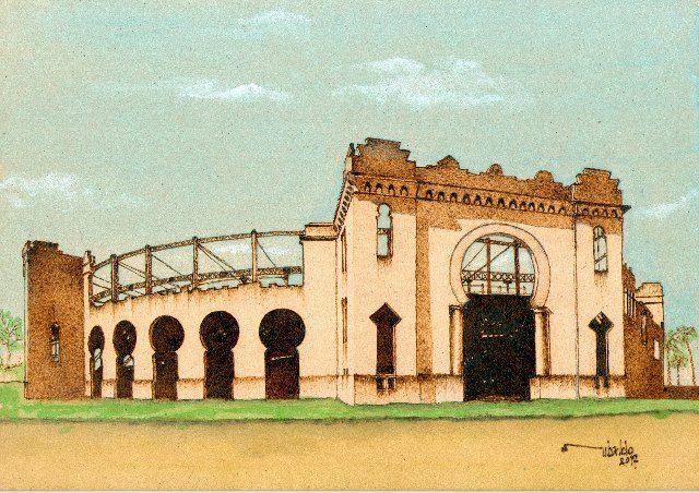 Antigua plaza de toros - Real de San Carlos - Colonia del Sacramento - Pirograbado en MDF