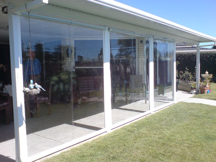 Twist lock Blind, with Clear PVC fabric.  Our customer had a beautiful view over looking waster, they were very happy with this choice of blind. Call 1300 799 944 for a free measure and quote.