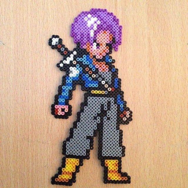 Trunks Dragon Ball hama perler beads by dragoneyes00