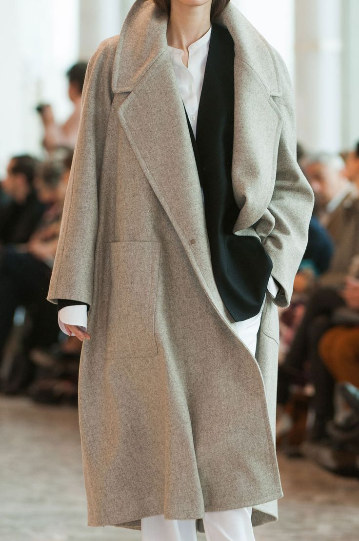 Keep cosy in a big neutral coloured coat / the love assembly
