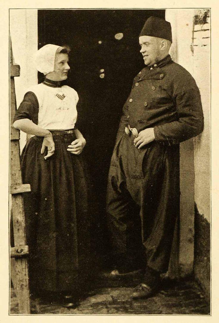 1911 Print Urk Holland Netherlands Cultural Clothing Dress Attire Historic XGJ3
