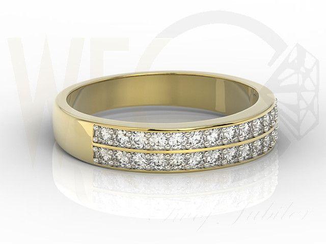 Pierścionek z żółtego złota z diamentami/ Ring made from yellow gold with a diamonds / 4199 PLN #jewellery #jewelry #gold #ring #diamonds #diamenty #zloto #engagement_ring #bizuteria