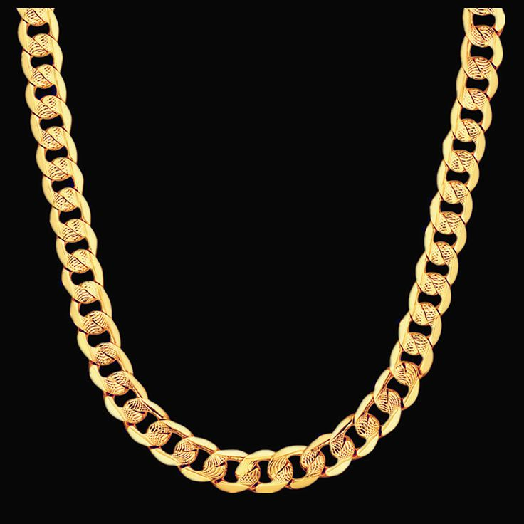 Mens Chain Necklace Vintage Jewelry 11MM Gold Plated Link Chunky Chain Necklace XL248ST Necklaces Male