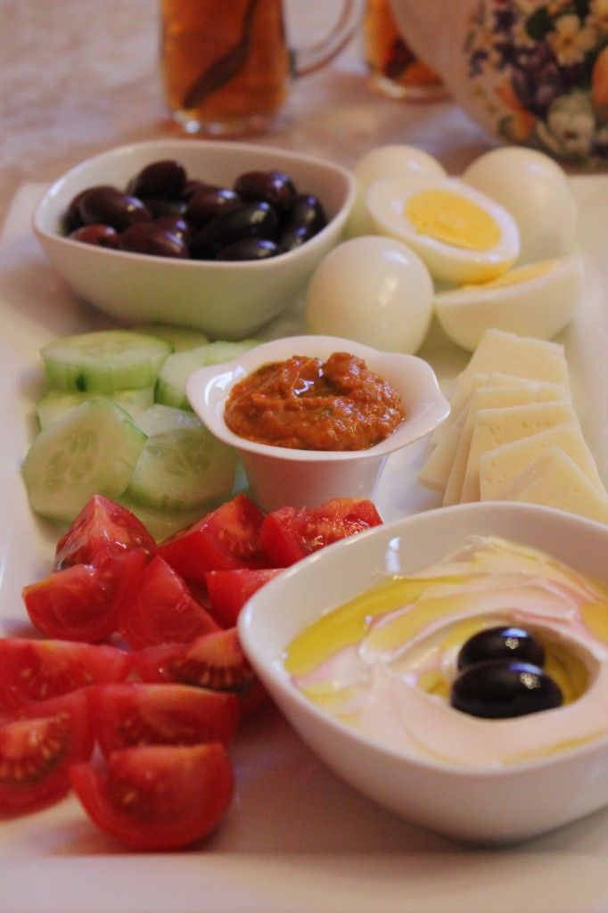 This Is A Traditional Mediterranean Breakfast Lunch Or Snack During The Day Healthy And Tasty Paired With Fresh Bread Tea Coffee Sitting At