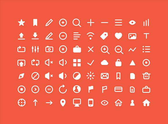 Here is a set of 70 useful small icons. This free PSD has been created and released byRobin Kylander.