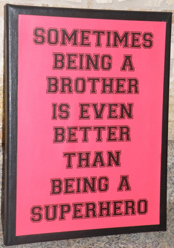 Boy room decoration brother superhero sign by DivineDesigns311, $10.00