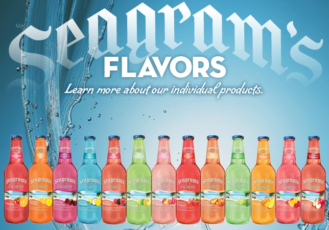 Seagrams' Escapes - Flavored beer. My favorite flavors are Jamaican Me Happy and Lime Melonade