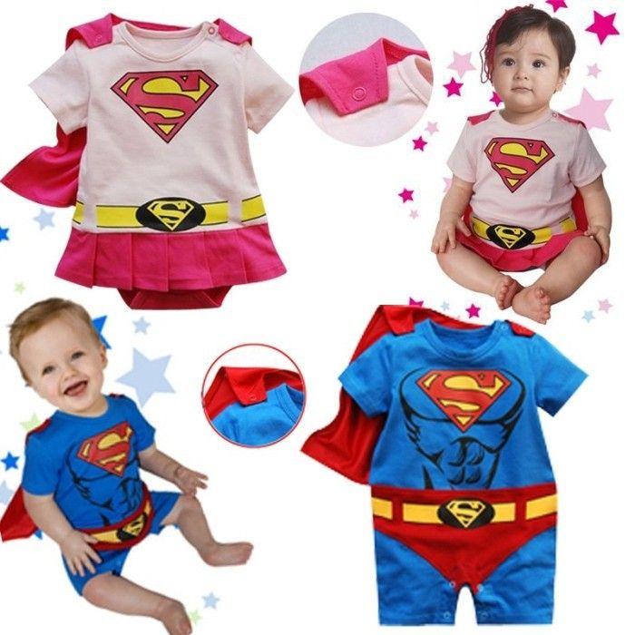 Новый супермен ребенок мальчик девочек детский комбинезон лето мода новорожденных комбинезон хлопка комбинезон детская одежда с коротким рукавом детская одежда