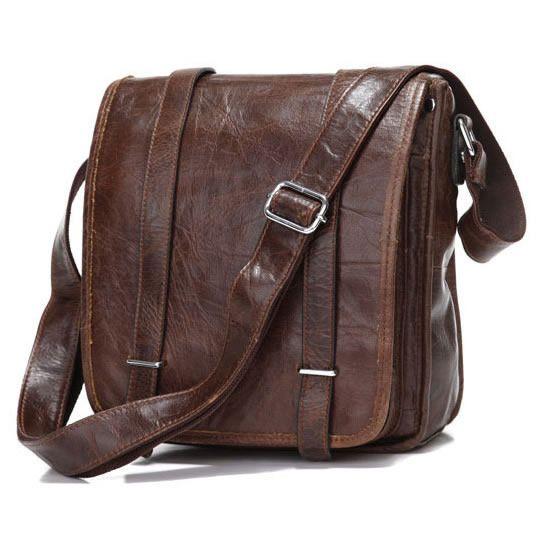 Vintage Leather Messenger Bag / Satchel / iPad Bag