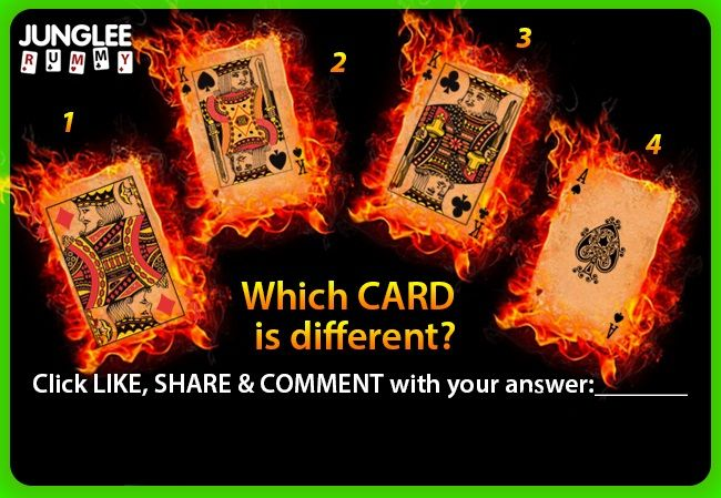 Here's the simple puzzle for you... see the pin and check which card is different? pin it, share it, make your comments and follow #Rummy pinboard