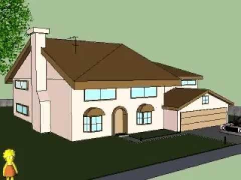 Tarea realizada con Sketchup en la que he hecho la casa de los Simpsons en 3D.