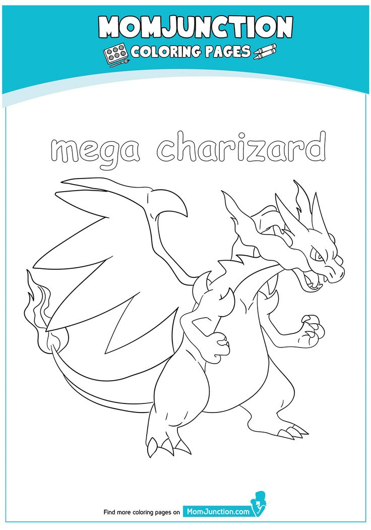 Fiery one charmeleon low size Coloring Page