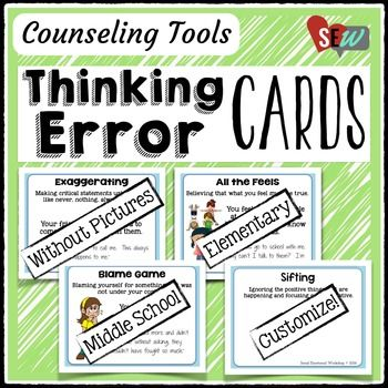 Thinking Error Cards: Help Kids Spot Negative Thoughts