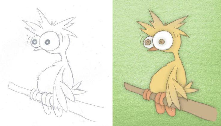 Book Illustration - Strange Bird   By Corinne Jade Shardlow