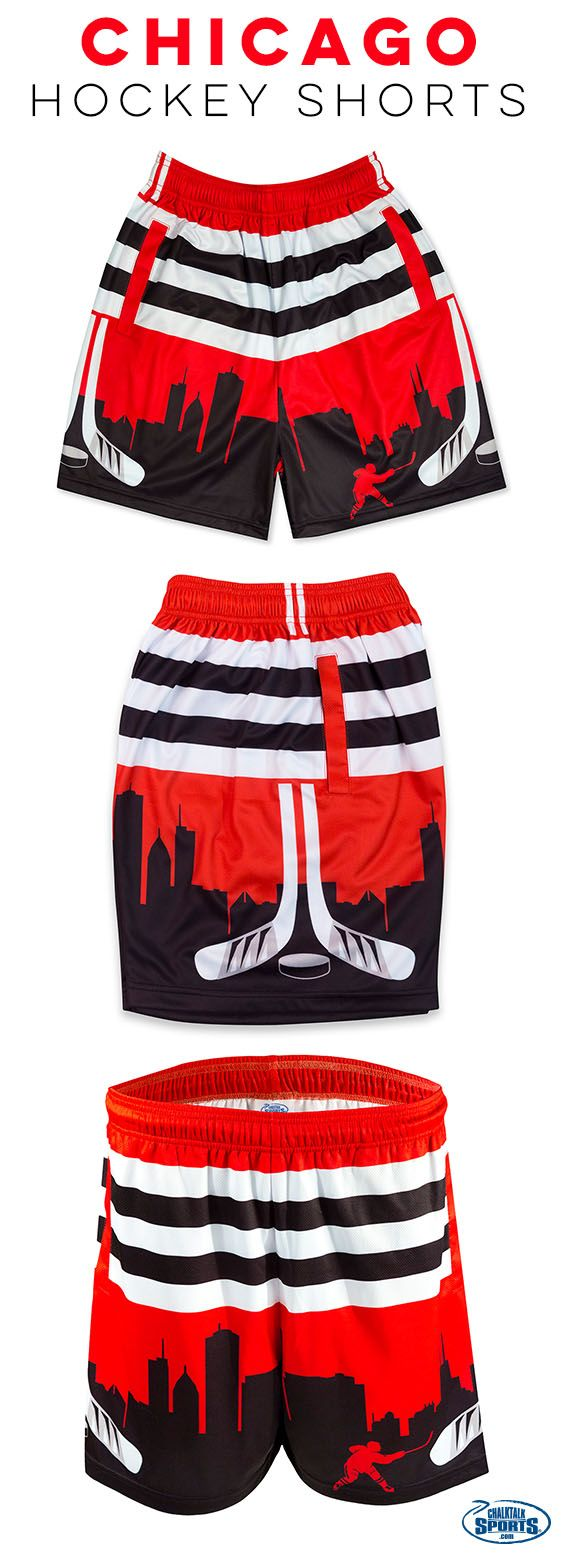 Calling all Chicago hockey fans! The latest addition to the ChalkTalkSPORTS line up was made for you! Rock these shorts just in time for the playoffs!