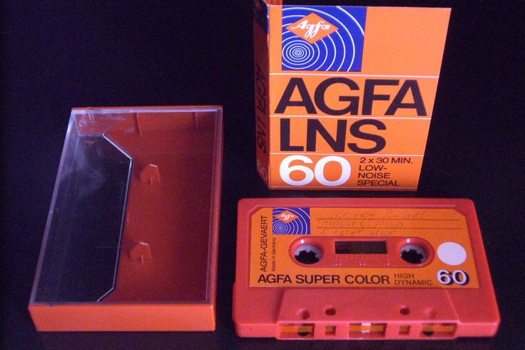 AGFA VINTAGE AUDIO CASSETTE TAPE ( USED ) \ 1975  GERMANY \ RARE ! #AGFA60LNS