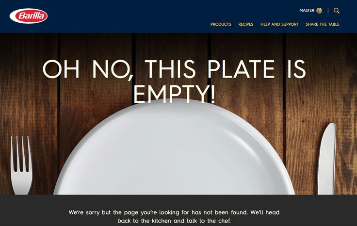 Oh no, this plate is empty! #barilla #404error #404