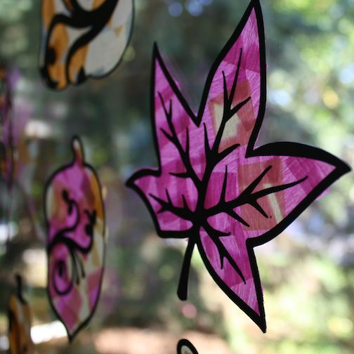 Tissue Paper Stained Glass: